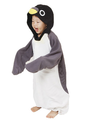 Grey Penguin Kid Onesie